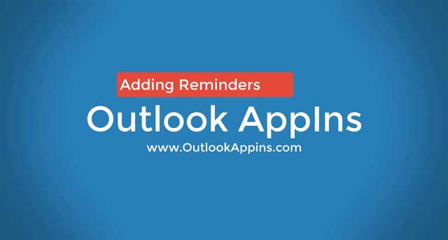How To Add Reminder in Outlook Email Attachments 2020