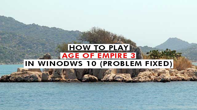 age of empires 3 initialiazation failed windows 10