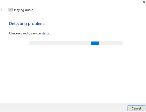 detecting audio problems