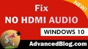 fix hdmi sound not working