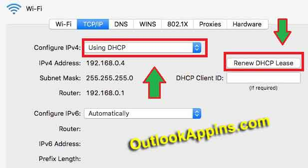 renew dhcp lease macOs