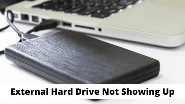 External Hard Drive Not Showing Up